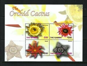 Gambia 2004 Sc#2824  The Orchid Cactus  MNH Miniature Sheet $12.00
