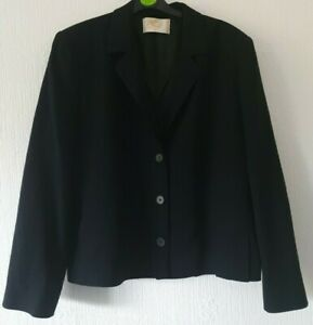 VINTAGE COUNTRY CASUALS NAVY BLUE SMART BLAZER STYLE JACKET S 18 WOOL BLEND