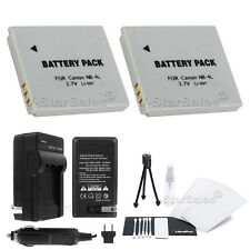 2x NB-4L Battery + Charger for Canon ELPH 100HS 300HS 310HS 330HS