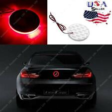 1x Brilliant Red Emblem LED Background Light 82mm For BMW 3 5 7 Series X3 X5 X6
