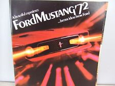 1972 Ford Mustang 18-page Original Car Sales Brochure - Mach I Convertible GT