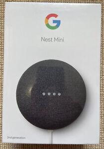 Google Nest Mini (2nd Generation) Smart Speaker - Charcoal | Brand New