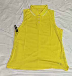 Women's Sleeveless Nike Dri-FIT Victory Golf Polo BV0223-731 Medium NWT $50