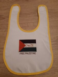 Free Palestine Middle East Baby Bib With Vel Fastener Brand New Rare
