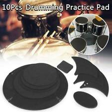 10 Pcs Mute Silencer Drumming Practice Pad Bass Snare Drums Sound off Quiet