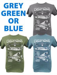 BACs English Electric Lightning RAF Aircraft T Shirt Blueprint Design.