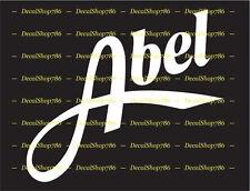 ABEL Fishing Reels - Outdoor Sports - Vinyl Die-Cut Peel N' Stickers & Decals
