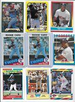 Kirby Puckett Twins Lot of (18) Different w/ (2) 1985 Topps Rookies #536 HOF EX