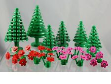 LEGO plant Trees and Red and Pink Flowers pack for the garden bush and forest