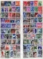 Repubblica - Lotto di 93 francobolli, 1946/52 - Usati