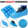 100 Disposable BLUE PVC Plastic Over Shoes / Shoe Boot Covers Carpet Protectors!