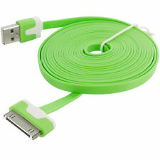 Long 3M USB Cable for iPhone 4S 4 Data Charger Noodles Lead Green