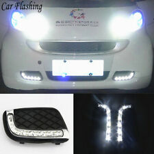 Fit 2008-12 Smart Fortwo 8W High Power LED Daytime Running Lights DRL Lamps Kit