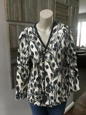 St. John Collection Black/White Cardigan Size L