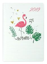 IDENA Buchkalender 2019 A6 Taschenkalender Kalender 1W=1S Agenda Flamingo 11242