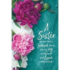"A Sister Is More Than a Forever Friend Organic Brights 6"" x 9"" Wood Plaque with"