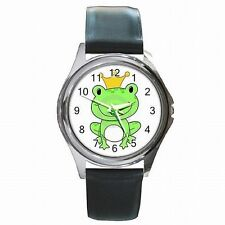 Frog Prince Fairy Tale Kiss Me Leather Watch New!