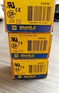 (3) NEW Square D 8501RS42P14V20 Series C Relay 10 Amp 120 V Coil 50/60 HZ  13134