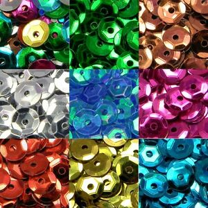 Lot of 1,600 Loose Shiny Faceted Plastic 6mm Cup Sequins Embellishment Beads