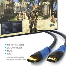 Ultra 50FT HDMI Cable Ultra HD 4K 3D 2160p HDR Compatible 2.1 2.0 a b 1.4 1.3