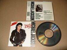 Michael Jackson Bad cd 1987 JAPAN & HOLLAND EARLY PRESS cd Ex  11 Tracks