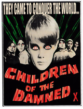CHILDREN OF THE DAMNED VINYL STICKER CLASSIC VINTAGE B-MOVIE HORROR CREEPY
