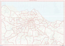 Postcode City Sector Map of Edinburgh - Laminated Write-On Wipe-Off
