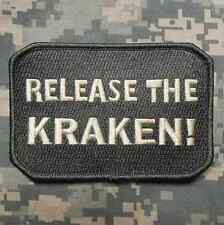 RELEASE THE KRAKEN! TACTICAL ARMY MORALE INFIDEL MILITARY ACU LIGHT HOOK PATCH