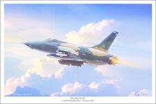 "F-105D Thunderchief by Mark Karvon Aviation Art Print, Size 16"" x 24"""
