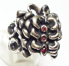 Rose Butterfly Silver Ring