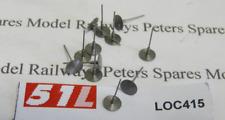 """51L LOC415 15"""" (5.00mm) Steel Buffer Heads (Pk12) OO Gauge"""