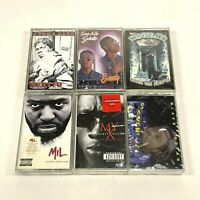 Lot 6 Cassette Tapes Explicit Rap Hip Hop 90's Bounty Killer Black Indian SEALED