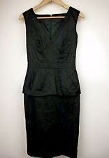 NICOLA FINETTI Pencil dress Sz 6 Black Peplum BNWT