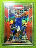 ZION WILLIAMSON RED PRIZM ROOKIE CARD JERSEY #1 DUKE RED REFRACTOR RC 2019 Prizm