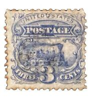 US Stamp # 114 Used H No Postmark Grill