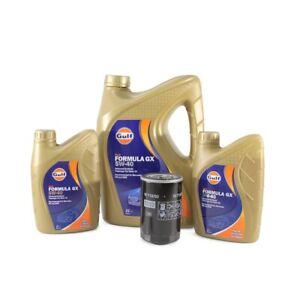 Gulf Formula Engine Oil GX 5W-40 & Oil Filter Kit fits Audi 100 C4 4A2 2.6
