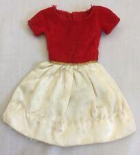 "1964-65 Skipper Barbie Doll ""Silk 'N Fancy 1902"" Dress Solid White Lace 3024B"