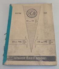 Teilekatalog / Catalogue de pieces detachees CZ 125, CZ 175, CZ 250 Edition 1965