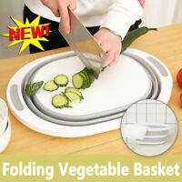 Multifunction Foldable Chopping Board Washing Basket Kitchen Home Cooking Gadget