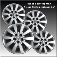 "Set 4 2016-2017 Nissan Sentra Hubcaps Wheel Covers 16"" Factory OEM #403153NF0B"