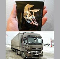 KAMAZ Radiator Grill Hood Emblem Badge Ornament.Russian Truck Original.