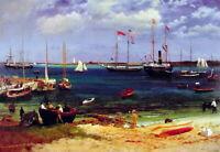 Albert Bierstadt Nassau Harbor After Canvas Print Giclee Painting Fine Art Small