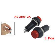 5 pz AC 250V 3A SPST On / Off Autobloccante interruttore a pulsante HKIT I3M2