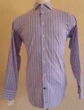 THOMAS Dean SHIRT 15 1/2 Striped MULTICOLOR Mens SIZE Contrast CUFF Cotton NWT**