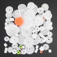 64Pcs High Quality Plastic Shaft Single Double Layer Crown Worm Gears M0.5 DIY