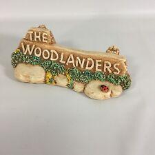 Woodlander Pendelfin Figurine Mereside England Stoneware Woodlanders Sign Vtg