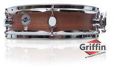 Griffin Piccolo Snare Drum 13x3.5 Dark Wood Shell Percussion Poplar