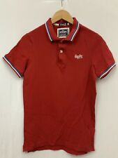Mens | SuperDry London Fit Cotton Short Sleeved Polo Shirt | Red | Size S