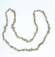 NECKLACE PENDANT beads long colored quartz with mother of pearl
