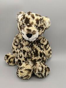 "Jellycat Bashful Leopard 12"" Plush Cheetah Toy Stuffed Animal Lovey"